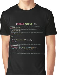 Hello World in Multiple Languages Graphic T-Shirt