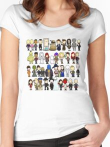 Doctor Who all together now Women's Fitted Scoop T-Shirt