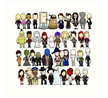 Doctor Who all together now Art Print