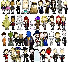Doctor Who all together now by Bantambb