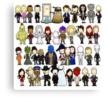 Doctor Who all together now Canvas Print