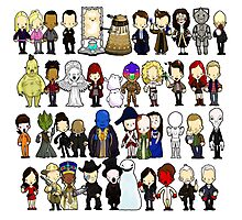 Doctor Who all together now Photographic Print