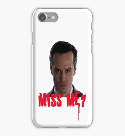 Sherlock ~ Moriarty: Miss Me? iPhone Case/Skin