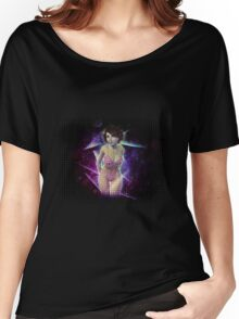 Bikini girl on abstract background Women's Relaxed Fit T-Shirt