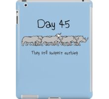 Day 45. They still suspect nothing. (Unicorn + Rhinos) iPad Case/Skin