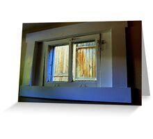 Through The Basement Window Greeting Card