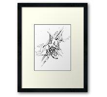 Along Those Lines - Pen & Ink Illustration Framed Print