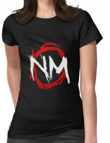 NmO Logo (Red & White) (WORKS BEST WITH BLACK) Womens Fitted T-Shirt