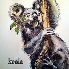 Christmas koala. Elizabeth Moore Golding© by Elizabeth Moore Golding