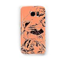Mother Tiger and Cub - Orange Samsung Galaxy Case/Skin