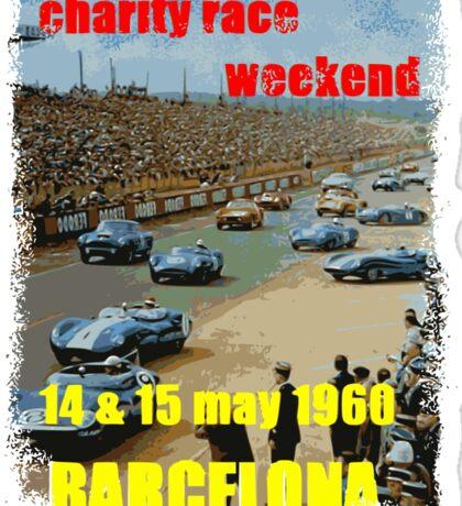 Vintage race cars Sticker