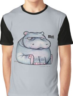 Meh Hippo Graphic T-Shirt