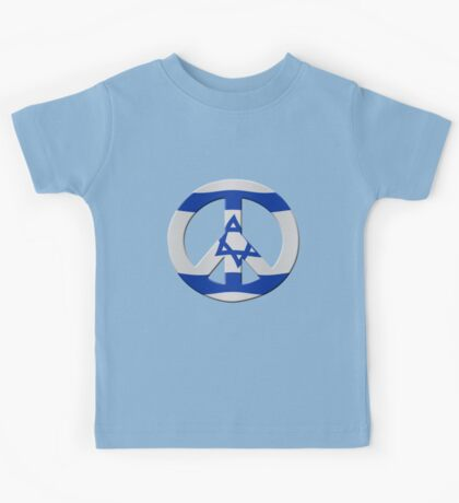 Peace sign and Israeli flag Kids Tee