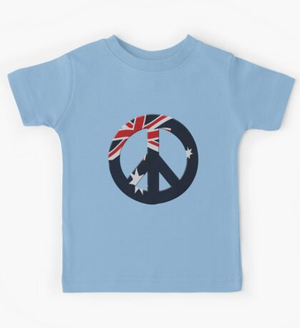 Peace sign and Australian flag Kids Tee