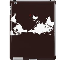 Upside Down World Map New Zealand iPad Case/Skin