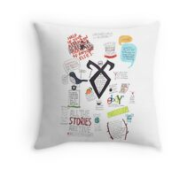 The Mortal Instruments collage Throw Pillow
