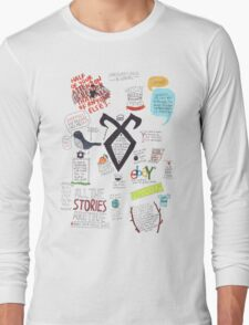 The Mortal Instruments collage Long Sleeve T-Shirt