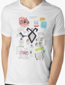 The Mortal Instruments collage Mens V-Neck T-Shirt