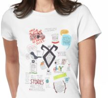 The Mortal Instruments collage Womens Fitted T-Shirt