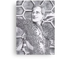 Jimmy Price - King of the bees BW Canvas Print
