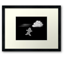 Chase that Cloud, Girl! Compressed Framed Print