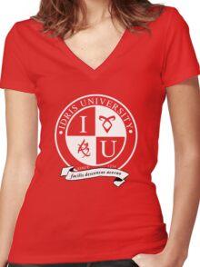 Idris University (dark-based) Women's Fitted V-Neck T-Shirt