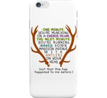 "The Mortal Instruments: ""Antlers (Don't Order Any of the Faerie Food)"" iPhone Case/Skin"