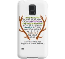 "The Mortal Instruments: ""Antlers (Don't Order Any of the Faerie Food)"" Samsung Galaxy Case/Skin"