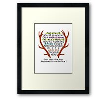 "The Mortal Instruments: ""Antlers (Don't Order Any of the Faerie Food)"" Framed Print"