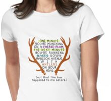 "The Mortal Instruments: ""Antlers (Don't Order Any of the Faerie Food)"" Womens Fitted T-Shirt"
