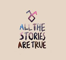 All the stories are true (watercolor) Womens Fitted T-Shirt