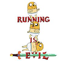 Running is Evil Photographic Print