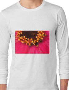 Flowers Within The Flower - Zinnia Macro  Long Sleeve T-Shirt