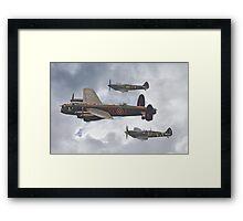 The Battle Of Britain Memorial Flight - Shoreham 2014 Framed Print