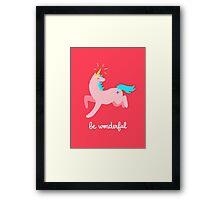 Wonderful Unicorn Framed Print