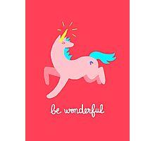 Wonderful Unicorn Photographic Print