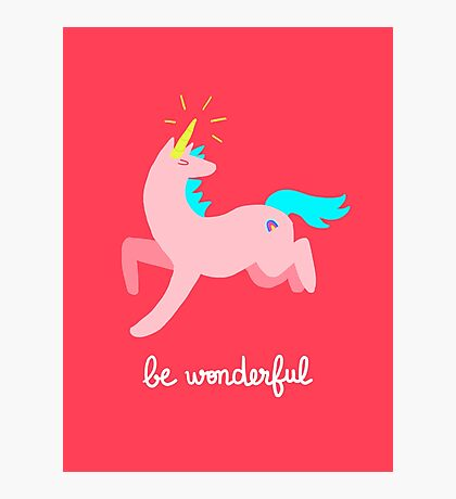 Wonderful Unicorn Photographic Print