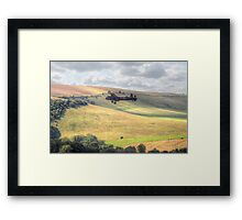 Thumper Flies Down The Coombes Valley - HDR Framed Print