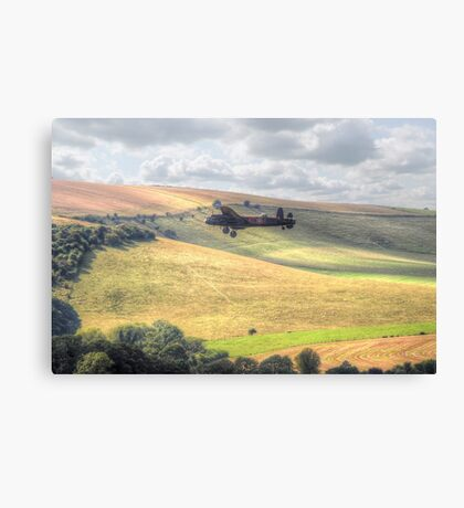 Thumper Flies Down The Coombes Valley - HDR Canvas Print