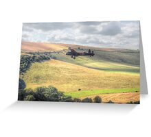 Thumper Flies Down The Coombes Valley - HDR Greeting Card