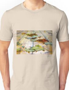 Selective focus on autumn maple leaves with shallow depth of field Unisex T-Shirt