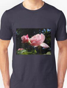Backlit Pink Roses Unisex T-Shirt