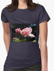 Backlit Pink Roses T-Shirt