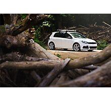 White Volkswagen MKVI Golf R Photographic Print