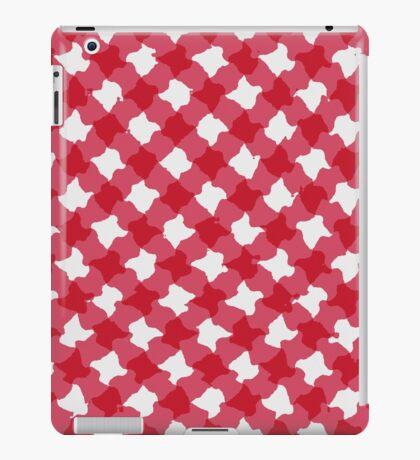 Red gingham design  iPad Case/Skin