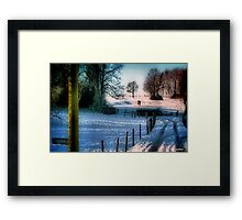 The Snow Fields Framed Print