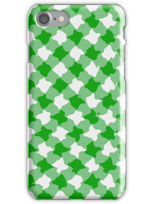 Green diagonal gingham design by stuwdamdorp