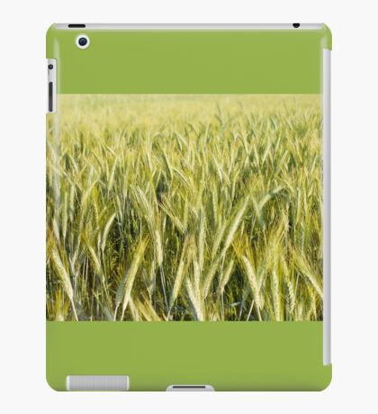 Spring green cereal plants iPad Case/Skin