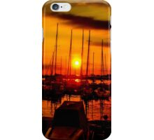 Sunset over harbour in Piran, Slovenia iPhone Case/Skin