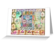 Buddha peace life quote Greeting Card